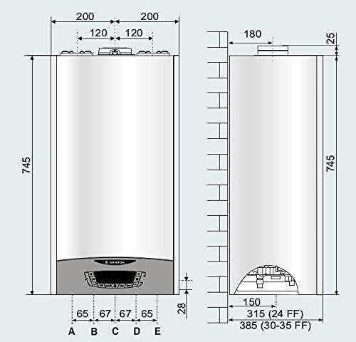 Ariston MLN3301021 caldera mural de condensación Clas One24, blanco: Amazon.es: Bricolaje y herramientas