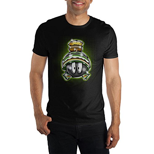 Looney Tunes Marvin The Martian Matrix Mens T Shirt-XXL Black
