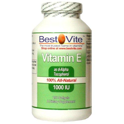 Vitamin E 1000 IU (250 Softgels)