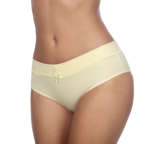 hering-womens-cotton-spandex-hipster-bikini-777r-yellow-xl