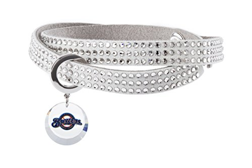 Milwaukee Brewers MLB Logo Home Run Crystal Bracelet with Swarovski crystals
