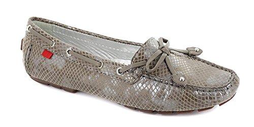 Echtes Leder der Frauen hergestellt in Brasilien-beiläufigen Cypress-Hügel-Fahrer Marc Joseph NY Fashion Shoes Graue Silberne Schlange