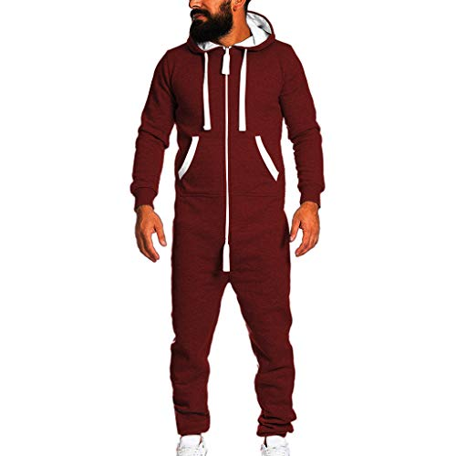 Men's Unisex Zip Hoodie Holiday Familly Party Jumpsuit