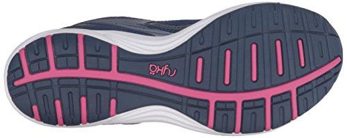 Ryka Womens Dash 2 Walking Shoe Navy/Grey/Purple