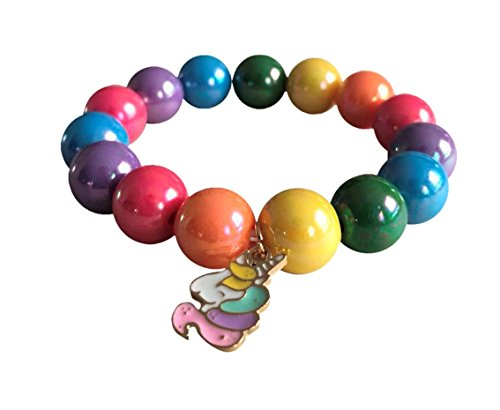 Rainbow Bracelet with Cute Unicorn Charm (Rainbow)