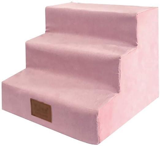 ZALIANG Escalera Mascota, Gato y Perro Escala Que Sube Subida de escaleras Juguete Juguete Ocio Entretenimiento (Color : Pink): Amazon.es: Productos para mascotas