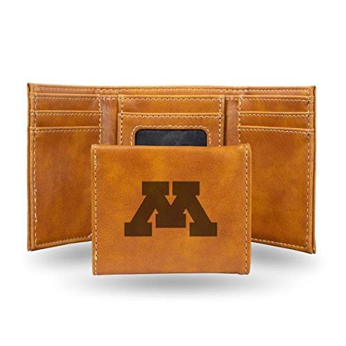 (Rico Industries NCAA Minnesota Golden Gophers Laser Engraved Tri-Fold Wallet,)