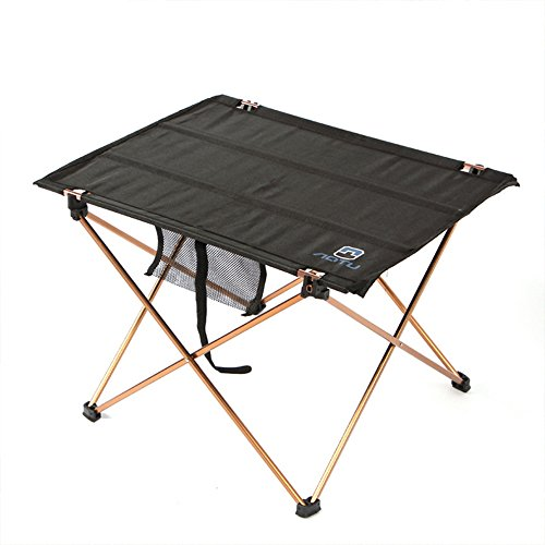 GOGOOUT Portable Folding Camping Table, lightweight Fabric & Alluminum Alloy Sturdy Stable Picnic Table Collapsible, Quick Assembly with Carrying Bag for Outdoor Fishing Travel Hiking (Nylon Folding Table)