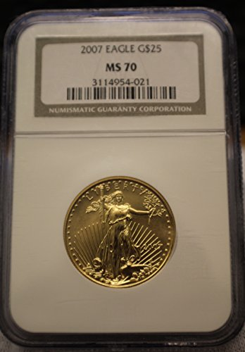 2007 American Gold Eagle Liberty Double Eagle Reverse $25 MS-70 NGC