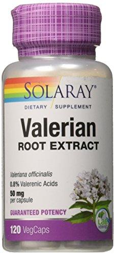(Solaray Guaranteed Potency Valerian Root Extract 50 mg Capsules, 120 Count)