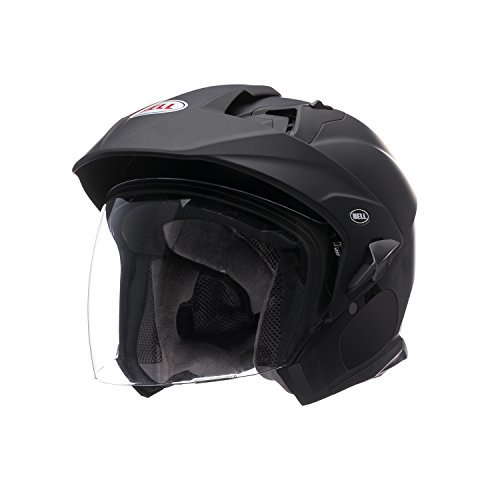 Bell Mag-9 Unisex-Adult Open face Street Helmet (Solid Matte Black, XX-Large) (D.O.T.-Certified)