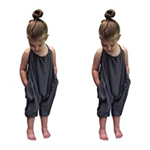 Mapletop Baby Girls Straps Rompers Jumpsuits Toddler Kid Piece Pants Clothing