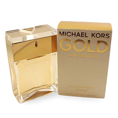 Michael Kors Gold Luxe Edition Eau de Parfum Spray for Women, 3.4 Ounce