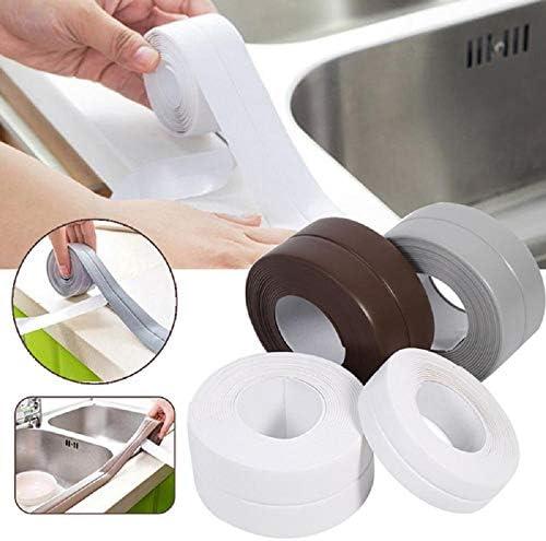 86 126In FANMU Nastro di Super Impermeabile Nastro Adesivo in PVC Nastro Adesivo da Cucina in PVC per Cucina Vasca da Bagno Controsoffitto Doccia Lavandino WC Fornello a Gas Angolo Parete 0