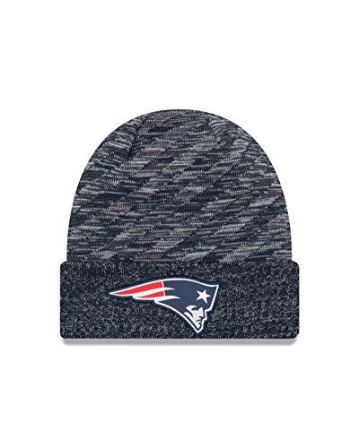 New Era New England Patriots Knit On Field 18 TD Winter Hat Navy/Grey Size One Size (Toboggan Patriots)