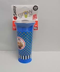 Sassy Grow Up Cup No Spout, No Spill Design 12 oz - 18 Months