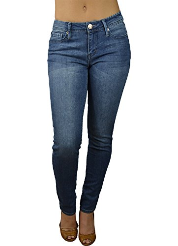 Alfa Global Women's Regular to Plus Size Skinny Stretch Denim Washed Pants LightBlue 14