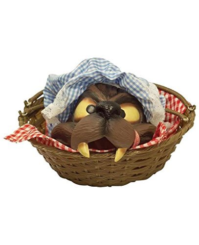 Price comparison product image Wolf Head In A Basket Costume Accessory