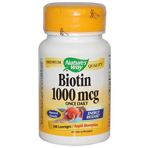 Nature's Way Biotin 1000 Mcg Lozenge 100 loz ( Multi-Pack)