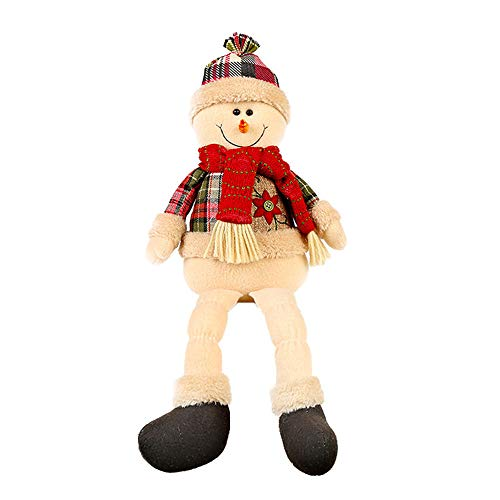 (Christmas Gift Hot Sale!!!Kacowpper hristmas Santa Claus Snowman Hat Stuffed Toys Plush Toy Doll Christmas)