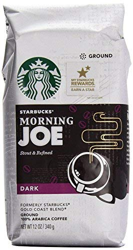 Starbucks Gold Coast Morning Joe Dark Ground Coffee, 12 Ounce (Pack of 6)