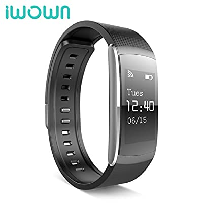 iWOWNfit i6 PRO/HR Smart Wristband Fitness Tracker Heart Rate Monitor IP67 Waterproof Bluetooth Smart Band Bracelet for Android iOS