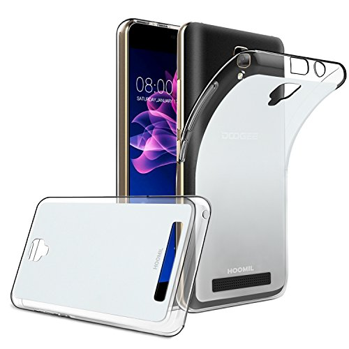 HOOMIL Doogee X10 Case Soft TPU Slim Protective Clear Case for Doogee X10 Phone Cover (Crystal) - HU3216