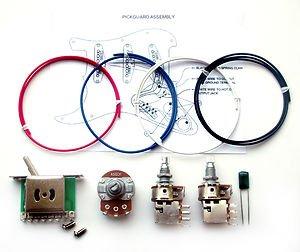 250k dual push pull stratocaster guitar wiring kit 0 33uf cap mini volume  pot : amazon co uk: musical instruments
