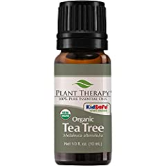 Plant Therapy Tea Tree Organic Essential Oil (INCI Ingredients: Melaleuca Alternifolia (Tea Tree, Organic) Leaf OilLooking for an organic antiseptic? Let Tea Tree Organic be your answer. Tea Tree Oil can aid in treating acne, dandruff, and ot...