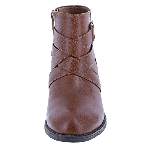 Lower Side Women's Ankle Tori East Strap Cognac Boot rqC75rw
