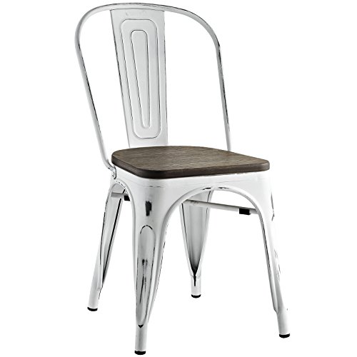 White Promenade Bamboo Side Chair