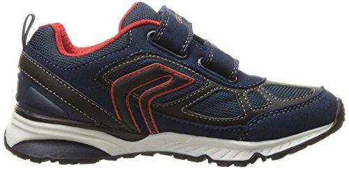 Geox J Bernie F, Zapatillas para Niños Blau (NAVY/REDC0735)