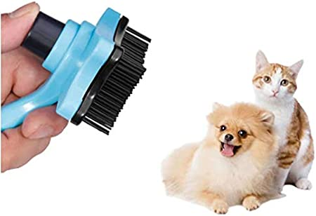 Medium /& Large Dogs and Cats with Short to Long Hair. Pet Grooming Comb for Small Feiky Slicker Brush for Dogs and Cats Grooming Comb with Easy Self-Cleaning Button
