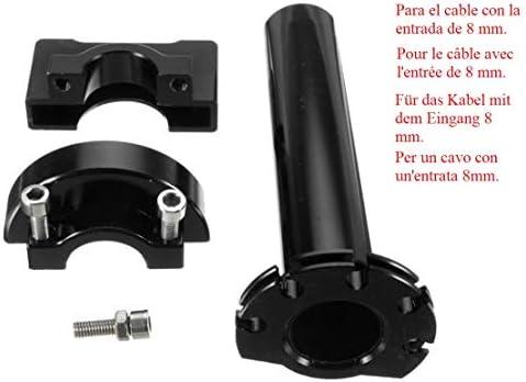 Acceleratore di moto Rapida 1//4 Universale Alluminio//Plastica Pitbike Motocross Enduro Trial