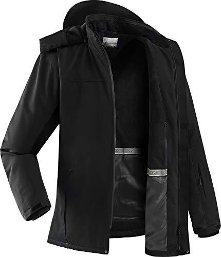 Hiauspor Men's Ski Jacket Waterproof Windproof Winter Coat for Snowboarding