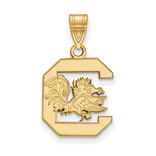 South Carolina Medium (5/8 Inch) Pendant (10k Yellow Gold) by LogoArt