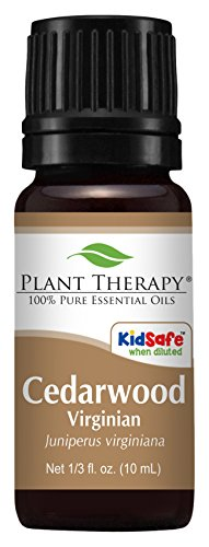Plant Therapy Cedarwood Virginian Essential Oil  100% Pure, Undiluted, Therapeutic Grade  10 ml (1/3 oz)
