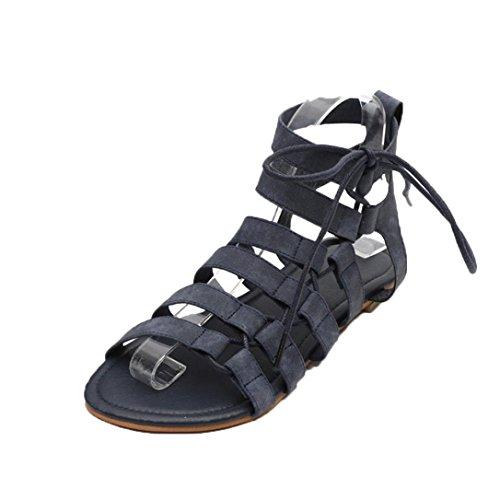 Sandales Femme Sandales Noir Talons Sandales Gladiator Beautyjourney Mule Peep Femme Drole Femmes Chaussures Cuir Tongs Flat Toe BohèMe 5gTxxqwan