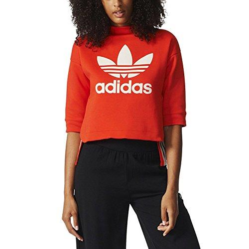 adidas Originals 3/4 Sleeve Women's Sweatshirt Core Red bk5920 (Size M) ()