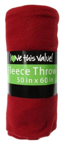 Cozy 50 X 60 Fleece Throw Blanket -Red