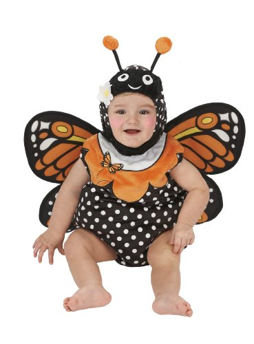 Just Pretend Kids Infant Romper, 0-6 Months, Monarch Butterfly