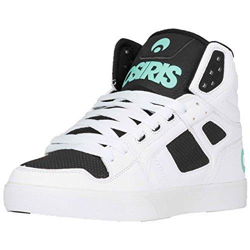 Osiris Mens Clone Skate Schoen Wit / Zwart / Opaal
