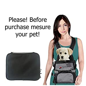 Front Dog Cat Pet Carrier, Dog Backpack Bag by Eugene's. Free Your Hands. Use as: Dog Carrier, Cat Carrier, Carrier For Small pets. New Generation of Dog Carriers. for your pets up to 16 lbs. 31