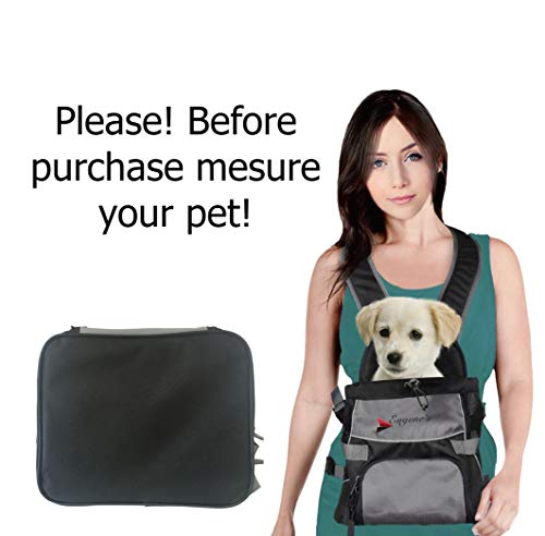 Front Dog Cat Pet Carrier, Dog Backpack Bag by Eugene's. Free Your Hands. Use as: Dog Carrier, Cat Carrier, Carrier For Small pets. New Generation of Dog Carriers. for your ()