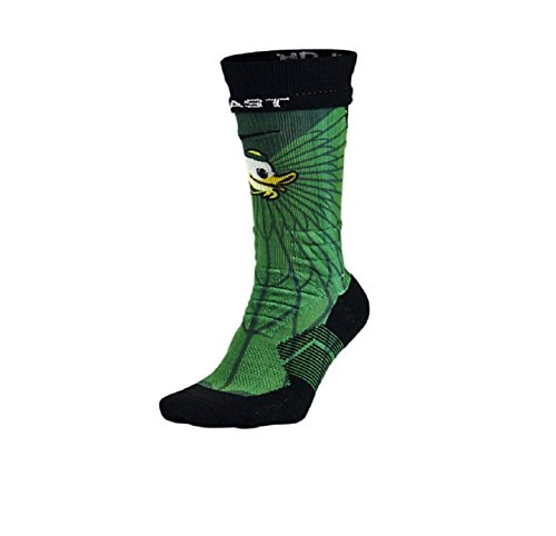 Nike Men's Dri-Fit Oregon Ducks Elite Performance Football Socks Apple Green/Ducks Yellow X-Large (Mens 12-15) (Oregon Cleats Football)