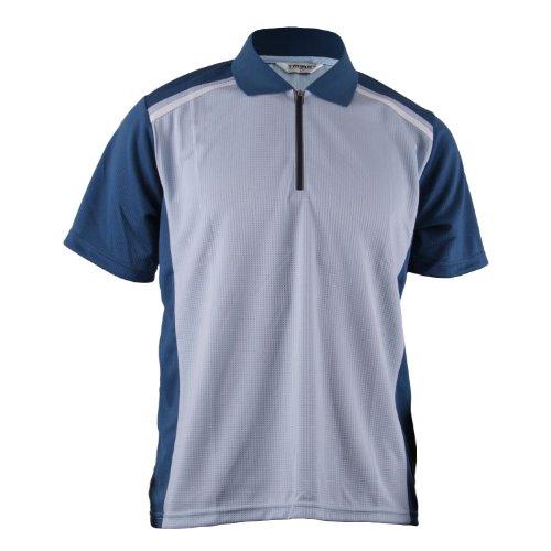 BCPOLO Men's Zip Polo shirt Raglan Polo Shirt Zip- Neck Line (S(US-X-S-mall), - Sky Mall