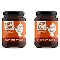 Date Lady Organic Date Syrup 12 Ounce Glass Jar | Vegan, Paleo, Gluten-free & Kosher (2-Pack)