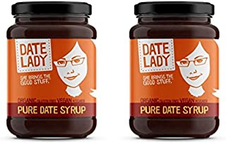 product image for Date Lady Organic Date Syrup 12 Ounce Glass Jar | Vegan, Paleo, Gluten-free & Kosher (2-Pack)