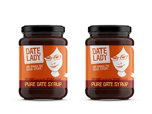 (Date Lady Organic Date Syrup 12 Ounce Glass Jar | Vegan, Paleo, Gluten-free & Kosher (2-Pack))