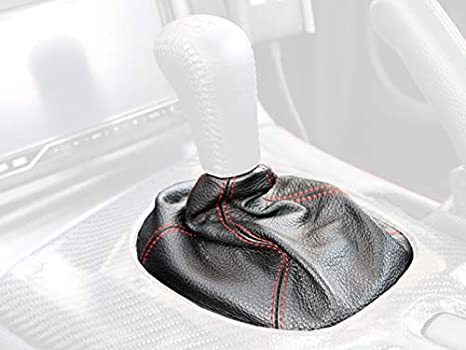 RedlineGoods Shift Boot Compatible with Mazda RX7 1993-02 Black Leather-Black Thread